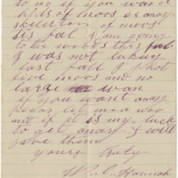 Hannah, W.C. Letter to Ward, Henry A. (1879-08)