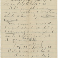 Straight, H. H. Letter to Ward, Henry A. (1881-01-17)