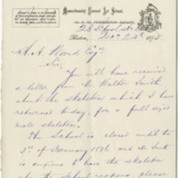 Meek, William T.  Letter to Ward, Henry A. (1875-12-24)