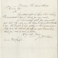 William, Ewan J. Letter to Lucas, Frederic A. (1876-03-18)