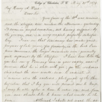 Manigault, G. E. Letter to Ward, Henry Augustus (1874-05-21)