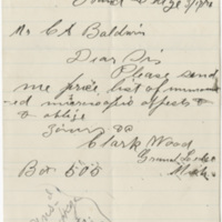 Ward, Clark. Letter to Baldwin, C. A. (1876-03-17)