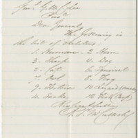 McCulloch, R. S. Letter to Lee, George Washington Custis. (1875-12-08)