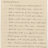 Douglass, Frederick. Letter to Ward, Henry A (1874-09-23)
