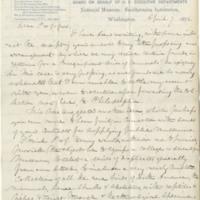 Baird, Spencer Fullerton.  Letter to Ward, Henry A. (1876-04-07)