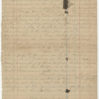 Laws, E. R. Letter to Ward, Henry Augustus (1874-01-01)