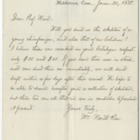 Rice, William North. Letter to Ward, Henry A. (1875-06-30)