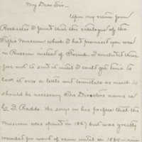 Kennan, George.  Letter to Ward, Henry A. (1876-03-27)