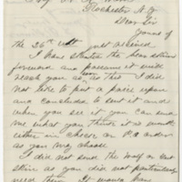 Kenner, F. R. Letter to Ward, Henry Augustus. (1874-05-26)