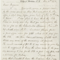 Manigault, G. E. Letter to Ward, Henry A. (1875-12-05)