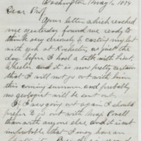 Howell, Edwin E. Letter to Ward, Henry Augustus (1874-05-01)