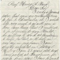 Tappan, Frank. L. Letter to Ward, Henry A. (1881-01-11)