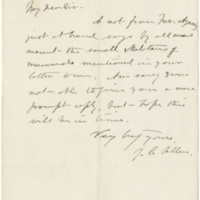Allen, J. A.  Letter to Ward, Henry Augustus (1876-09-12)
