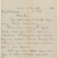Richardson,  Jenness. Letter  to Ward, Henry A. (1883-05-20)