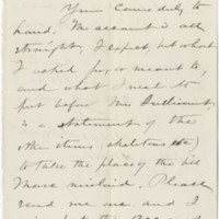 Tuttle, Albert H. Letter to Ward, Henry Augustus. (1875-12-22), page 1