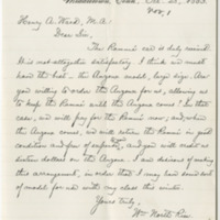 Rice, William North. Letter to Ward, Henry A. (1883-10-23)