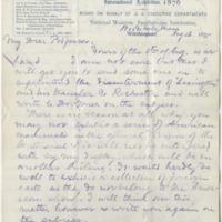 Baird, Spencer F. Letter to Ward, Henry Augustus (1875-08-12)