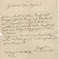 Ziegler, Ernst Letter to Ward, Henry A. (1877-07-17)