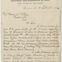Loomis, H. B. Letter to Ward, Henry A (1876-10-25)
