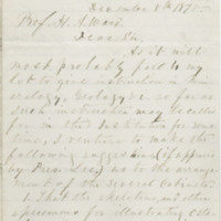 Campbell, John Lyle. Letter to Ward, Henry A. (1875-12-08)