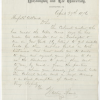 Bowie, Walter. Letter to Ward, Henry A. (1876-04-24)