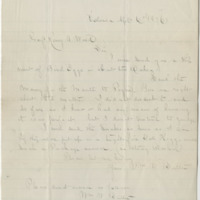 Butler, William W.  Letter to Ward, Henry A. (1876-04-06)
