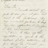 Murray, David. Letter to Ward, Henry Augustus (1876-08-14)
