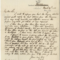 Cheeseman, T. F. Letter to Ward, Henry A. (1883-03-24)