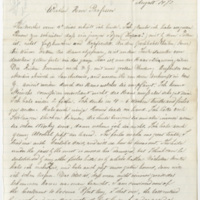 Tuerpe, Albert. Letter to Ward, Henry A. (1873-08-14)