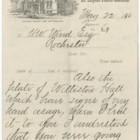 Williston, A. Lyman. Letter to Ward, Henry A. (1880-05-22)