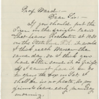Farman, Mrs. E. E. Letter to Ward, Henry A. (1879-10-23)