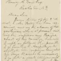 Clark, J. Letter to Ward, Henry A. (1879-10-18)
