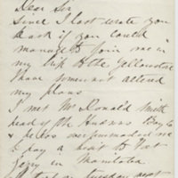 Dunraven. Letter to Ward, Henry Augustus. (1873-08-31)