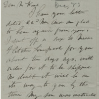 Henderson, Patrick. Letter to Ward, Henry A. (1883-12-05)