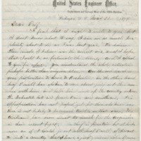Howell, Edwin E. Letter to Ward, Henry Augustus (1874-05-31)