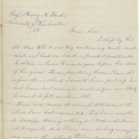 McNiel, John A. Letter to Ward, Henry A. (1875-12)