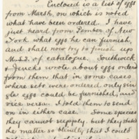 Baker, A.B. Letter to Ward, Henry A (1883-05-19)