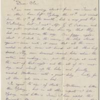 DeKempeneer, Charles E. Letter to Ward, Henry A. (1884-02-27)