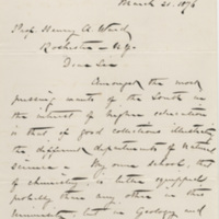 Mallet, John William. Letter to Ward, Henry Augustus (1876-03-21)