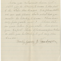 Vanduser, J. Letter to Sir (1880-05)