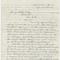 Randolph, W.C.N..Letter to Ward, Henry A. (1876-04-24)