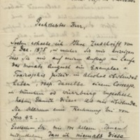 Müller, Friedrich. Letter to Ward, Henry A. (1875-12-24)