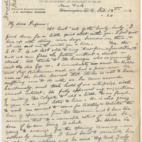 Hornaday, W. T.  Letter to Ward, Henry Augustus. (1883-02-13)