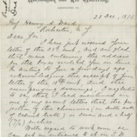 Lee, George Washington Custis. Letter to Ward, Henry A. (1875-12-28)