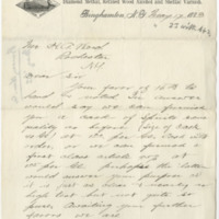 Collier, H. C. Letter to Ward, Henry A. (1883-05-17)