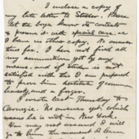 Hornaday, W. T.  Letter to Ward, Henry Augustus. (1883-02-06)