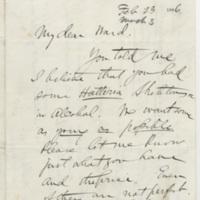 Marsh, Othniel Charles. Letter to Ward, Henry A. (1886-03-23)