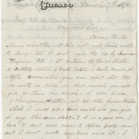 Boyd, H. W. Letter to Ward, Henry Augustus (1876-03-17)