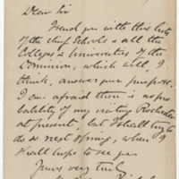 Nicholson, Henry Alleyne. Letter to Ward, Henry Augustus. (1873-12-29)