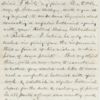 Morong, Thomas. Letter to Ward, Henry Augustus. (1879-01-24), page 1